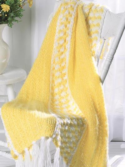 Knitting - Textured - Sunny Days Throw