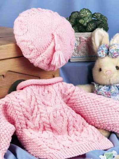 Knitting - Kids Clothing Knitting Patterns - Sweetheart Sweater Set