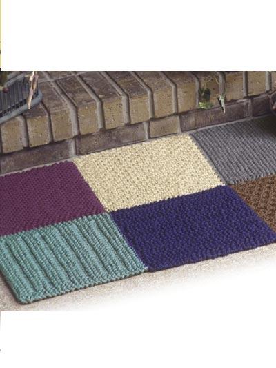 Bulky Knit Rug photo