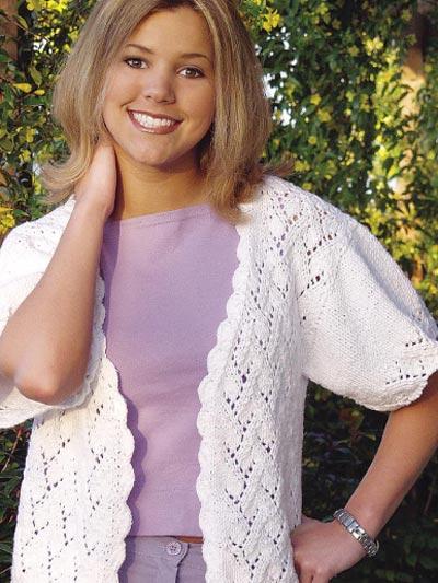 Trellis Lace Cardigan Knitting Free Patterns