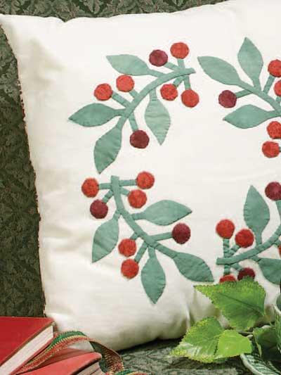Cherry Wreath Pillow photo