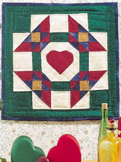 Framed Heart Wall Quilt photo