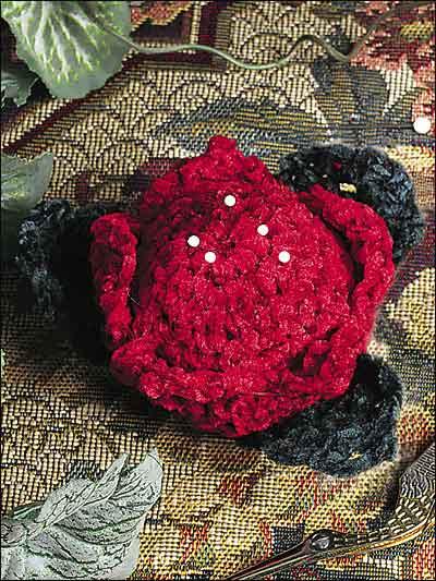 Chenille Rose Pincushion photo