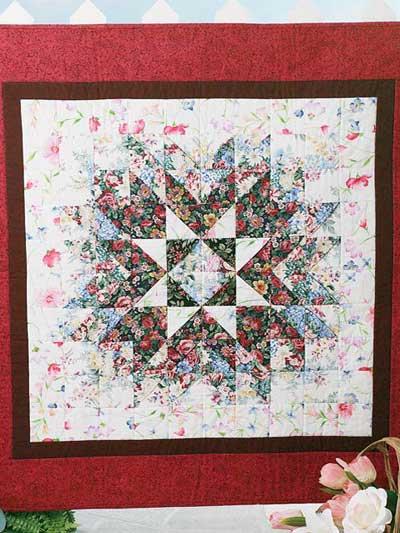 Floral Starburst Quilt photo