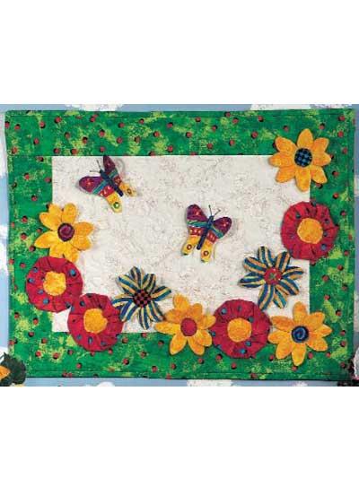 Flower Fun Wall Quilt photo