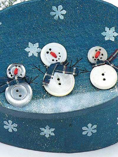 Button Snowmen photo
