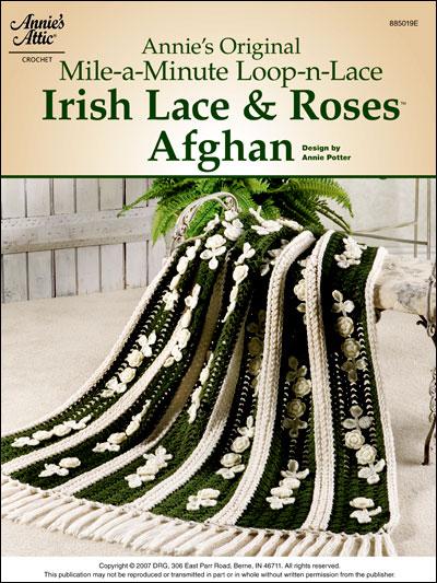 Annie's Original Mile-A-Minute Loop-n-Lace Irish Lace & Roses Afghan photo