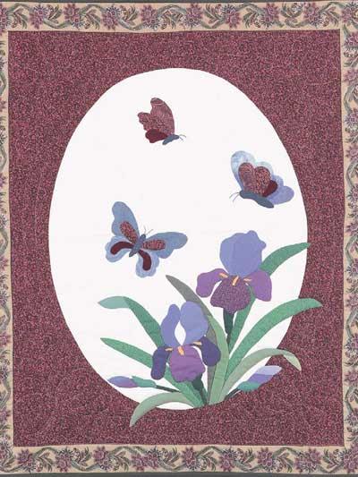 Iris Butterflies Quilt photo