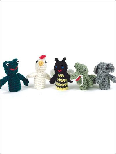 Crochet accessories finger puppets