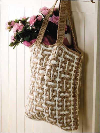 Mosaic Crochet Tote photo