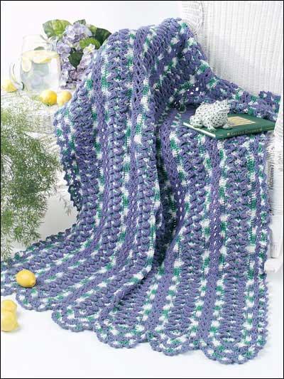 Ruffled Strips Afghan photo