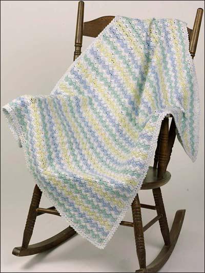 Crochet Zig Zag Afghan : Crochet - Babies & Children - Zigzag Shells Baby Afghan