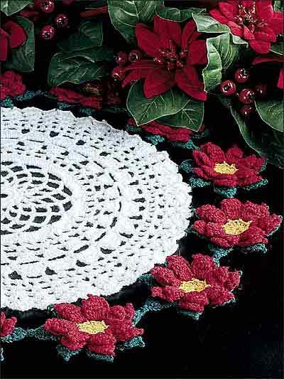 Poinsettia Doily II photo
