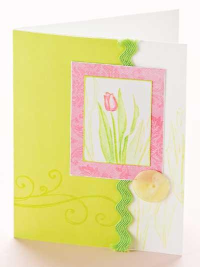 Tulip Greeting Card photo