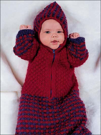 Textured Baby Bunting photo
