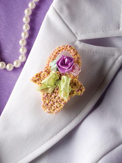 Flower Basket Pin photo
