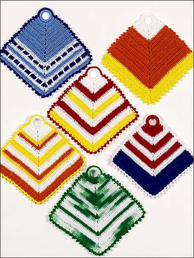 Vibrant Stripes Pot Holders photo