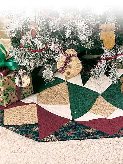 Christmas Star Tree Skirt photo