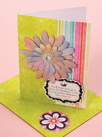 Glimmer Mist Tie-Dye Card photo