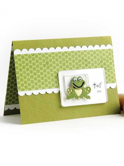 Kiss Me Card Design photo