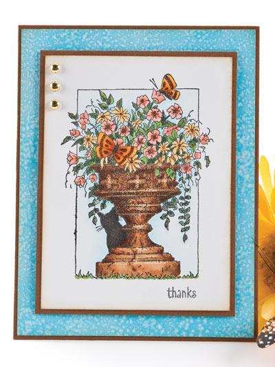 Garden Thanks Card Design photo