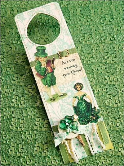 Wearing Green? Door Hanger photo