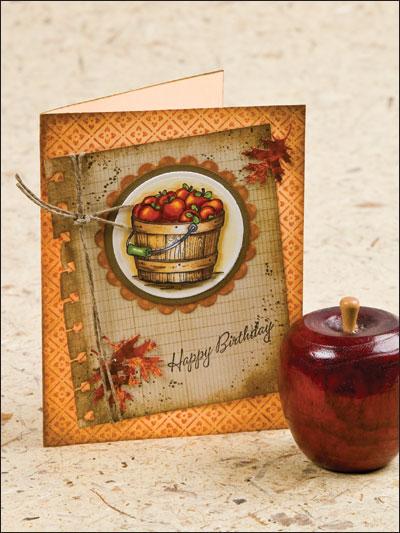 Apple Basket Birthday Greeting photo