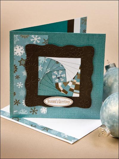 Iris-Fold Christmas Card photo