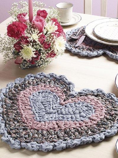 Rag Crochet Place Mats photo