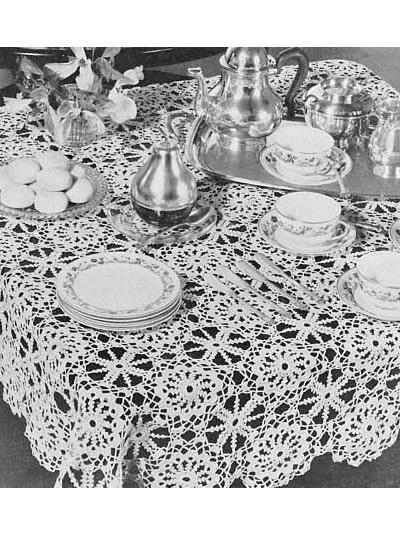 Irish Crochet Tablecloth photo