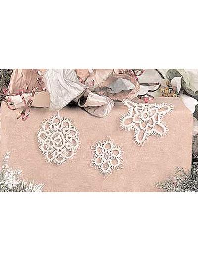 Three Tatted Snowflakes photo