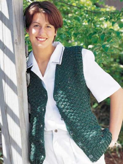 Ladies Speckled Vest photo