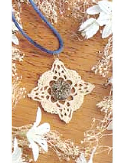 Crochet - Crochet Jewelry Patterns - Vintage Lace Pendant